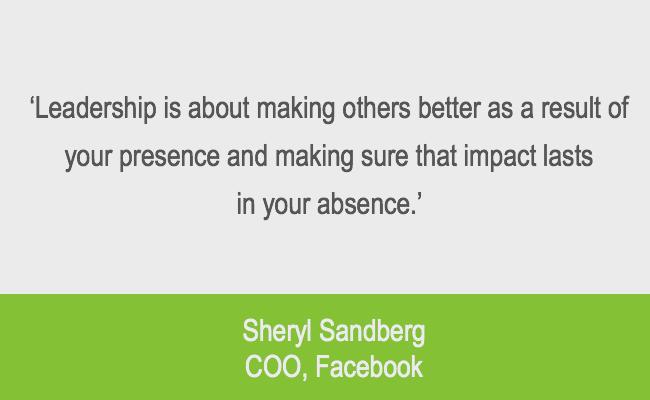Sheryl Sandberg Leadership quote emotional intelligence