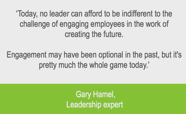leaders engagement quote from gary hamel