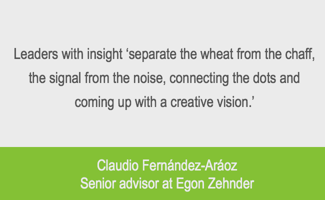 leadership insight quote from Egon Zehnder