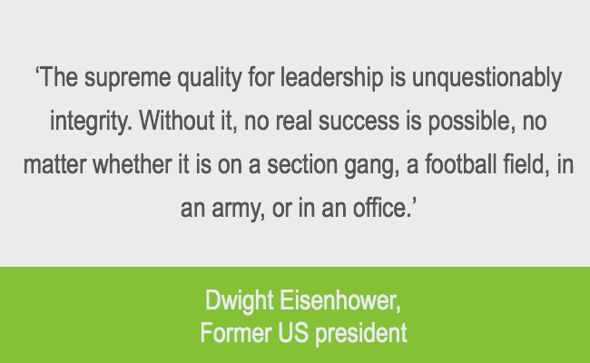 Eisenhower quote about leadership integrity