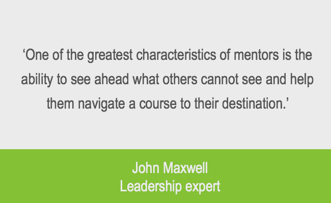 Leadership mentor quote from John Maxwell