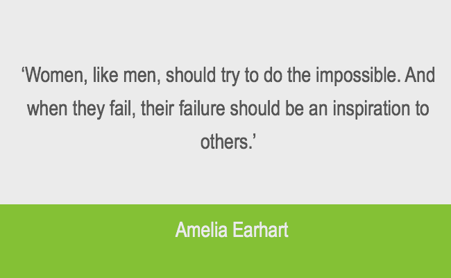 Leadership resilience quote from Amelia Earhart